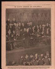 WWI London Guildhall Lloyd George United Kingdom England War 1917 ILLUSTRATION