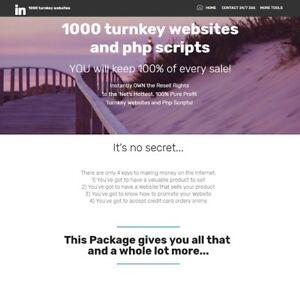 1000 turnkey website business reseller website for sale Make Money Online