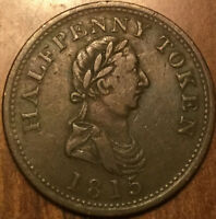 1815 NOVA SCOTIA HOSTERMAN AND ETTER HALIFAX HALFPENNY TOKEN - Breton 883