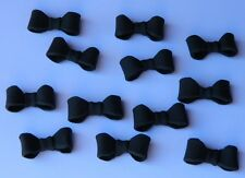 12 edible 3D MINI BOW TIES CUPCAKE cake topper DECORATION black tie MAN MINNIE