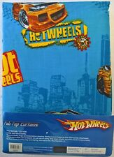 ~ Hot Wheels - CARS BED ROOM READY TO HANG CURTAINS WINDOW BLINDS Fast