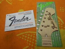 Original 1977 Fender Stratocaster Owner's Manual & 1977 Price List Case Candy
