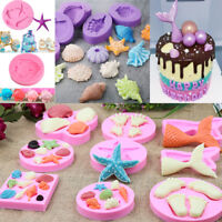 3D Ocean Shell Conch Silicone Fondant Mold Cake Decorating Baking Mould Tools