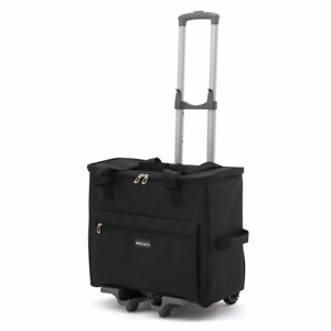DELUXE LARGE SEWING MACHINE  BAG WITH COLLAPSIBLE TROLLEY BLACK FREE UK DELIVERY