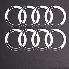 2 X AUDI RINGS CAR VINYL STICKERS RINGS GRAPHICS DECALS LOGO- ring 110mm dia