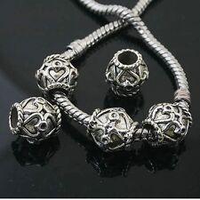 6pcs Tibetan Silver delicate spacer Beads Fit European charm  Bracelet  L0131