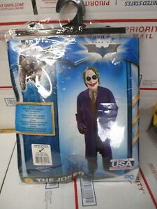 THE DARK KNIGHT TRILOGY THE JOKER CHILD COSTUME SIZE LARGE 12-14 NEW FAST SHIP