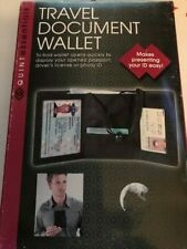TRAVEL DOCUMENT TRI-FOLD WALLET PRESENT EASIER PASSPORT LICENSE AND PHOTO ID