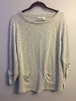 Croft & Barrow Women's Soft Gray pullover sweater Career Size XL extra large