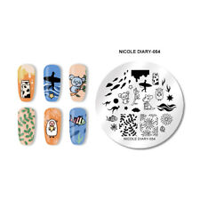NICOLE DIARY Round Nail Art Stamping Plates Kara Kangaroo Nail Art Template 054