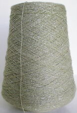 PEWTER 3-ply Rayon Metallic Cone Yarn Weave Knit Crochet XXFine 4760ypp 1 lb