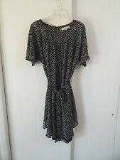 NEW womens black ANN TAYLOR LOFT dress short sleeve knee length casual L LARGE