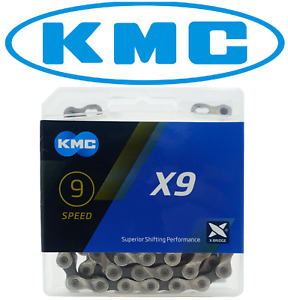 KMC X9 9 Speed Bike Chain fits Road MTB Hybrid Road Shimano SRAM X9.93 NEW