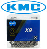 KMC X9 9 Speed Bike Chain fits Road MTB Hybrid Road Shimano SRAM X9.93 NEW