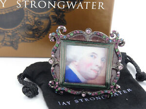 FANCY JAY STRONGWATER ENAMELED SWAROVSKI JEWELED PICTURE FRAME * NEW WITH BOX