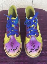 Colorful Genuine Leather 'Music Notes' Shoes Aquatred By Goodyear Soles Sz 6 New