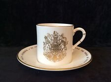 ROYAL WORCESTER EXPRESSO CUP AND SAUCER ROYAL WEDDING CHARLES AND DIANA 1981