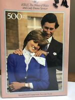 The Prince of Wales Lady Diana Spencer Royal Engagement England Puzzle Vtg New