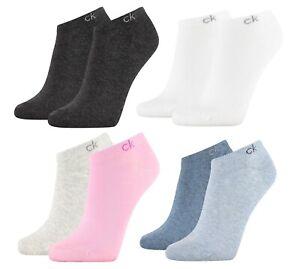 CK Calvin Klein WOMEN LINER 2-4P FLAT KNIT PAYAL Socken Kurzsocken Sneakersocken