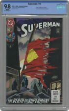 Superman #75 CBCS NOT CGC 9.8 DC Death of Superman RARE Second 2nd Printing