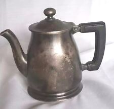 Antique Hotel Teapot Wallace Silver Soldered 8 oz Syrup Coffeepot Orig Patina