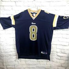 b5964a278 NFL LA Rams Bradford #8 Size 2XL Men's Jersey Style Navy & Gold V Neck