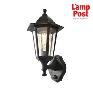 Forum CZ-25150-BLK Bianca Outdoor Wall Light Lantern With PIR Sensor - Black