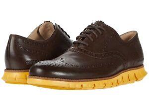 Men's Shoes Cole Haan ZEROGRAND WING Oxfords Leather C31168 BRACKEN / GOLDEN