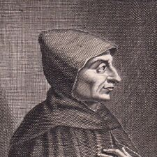 Portrait XVIIIe Jérôme Savonarole Girolamo Savonarola Ferrara Falò delle Vanità