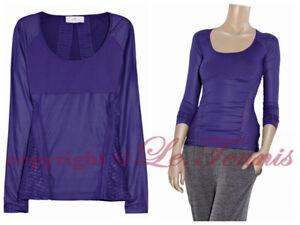 BNWT $160 Adidas Stella McCartney Mesh Run Long Tee Shirt Yoga Gym Tank Top - S