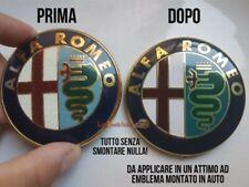 1 Stemma ALFA ROMEO Logo Emblema MiTo 33 75 146 147 156 159 166 Giulietta 74 mm