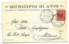 J118-AVIO POSTE ITALIANE-SU CARTOLINA 1915