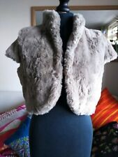Beautiful Monsoon faux fur bolero/shrug. UK  up to size 14. Excellent condition