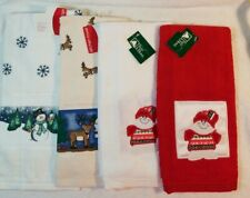 Set of 4 Christmas Kitchen Terry Cloth Towels NWT