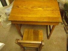 wooden children's desk and chair
