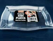 6 X Clear Plastic Serving Plate / Platter 22 X 16 Cm For Serving Shering