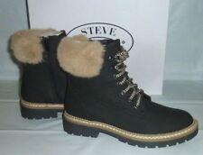 Steve Madden Ladies ALASKA BLACK Winter Cold Weather Boots Fleece Line PICK SIZE