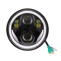 "5.75"" LED Projector DRL HeadLight Fit For Harley Iron XL 883 Sportster 1200 UK"