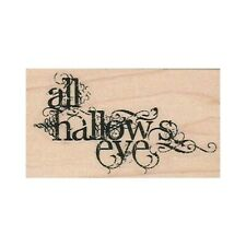 NEW All Hallows Eve RUBBER STAMP, Halloween Stamp, Hallows Eve, Halloween Card