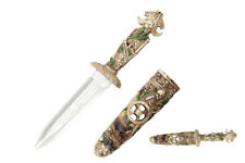 """16"""" Poly Resin Fantasy Skull King Dagger with Scabbard"""
