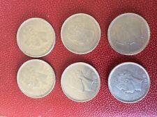 LOT de 6 monnaies différentes - 5 Francs -1936 FR et VL et 1937 FR position A /B