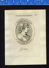 Unknown Personage depicted by Leonardo Agostini - Battista -1685 Engraving