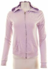 HOLLISTER Womens Hoodie Sweater Size 6 XS Purple Cotton Loose Fit  IB09