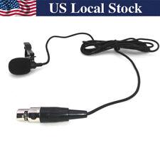 Lavalier/Lapel TA3F Mic 3 Pin Mini XLR Microphone For SHURE AKG Samson Wireless