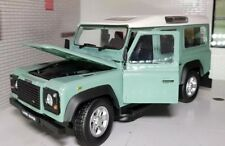 Land Rover Defender 300TDi TDi TD5 110 Green White Roof 1:24 Scale Diecast Model
