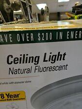 Light Fixture Ceiling Fluorescent GE Energy-Star Home Office Light White Fuxture