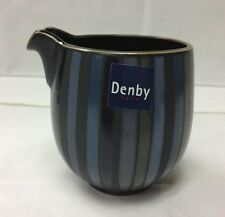"DENBY ""JET STRIPES"" SMALL MILK JUG 3 1/2"" STONEWARE BRAND NEW MADE IN ENGLAND"