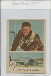 1959 Fleer Ted Williams Baseball #47 Crash Lands Jet Nm/Mt High End Set break