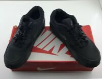 Nike Air Max 90 GS 724824 001 Sneaker Black Size 7Y New With Box