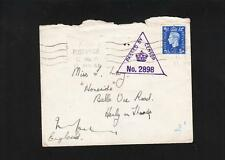 Great Britain Wwii Apo C.No.6 Triangle Purple Censor No. 2898 George Vi z74